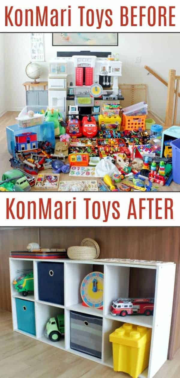 KonMari toys before and after pics