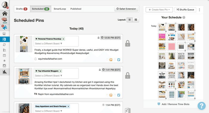 A screenshot of Tailwind for blog traffic