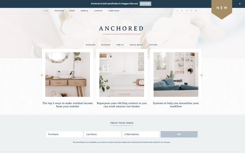 Anchored theme by Restored 316
