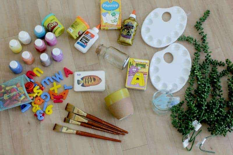 Craft supplies for craft caddy