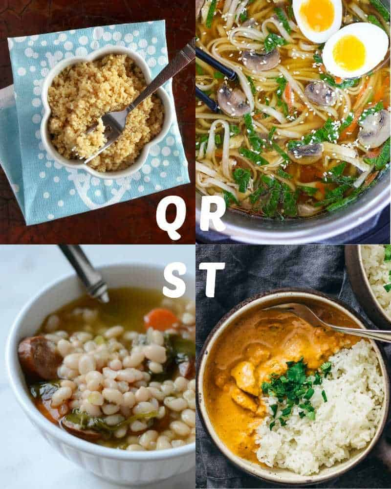 Best Instant Pot recipes for letters Q-T