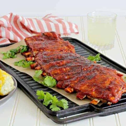 Instant Pot ribs with spicy Korean bbq sauce