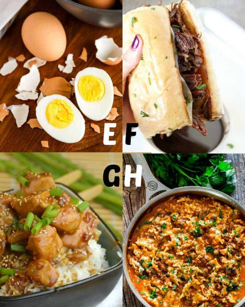 Best Instant Pot recipes for letters E-H