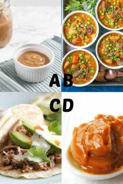 Best Instant Pot recipes for letters A-D