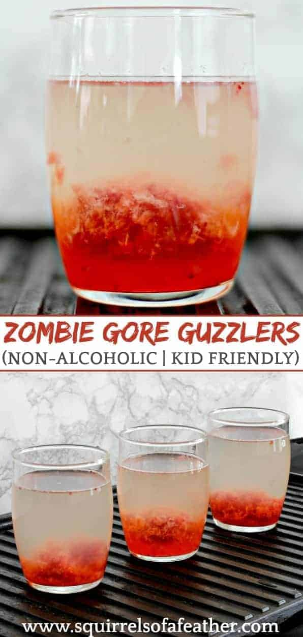 Bloody zombie drinks for Halloween