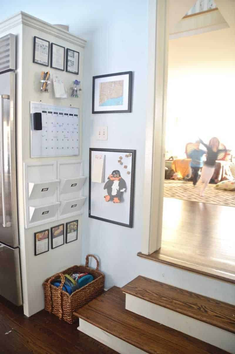 Family command center idea for small space