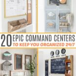 List of 20 command center ideas