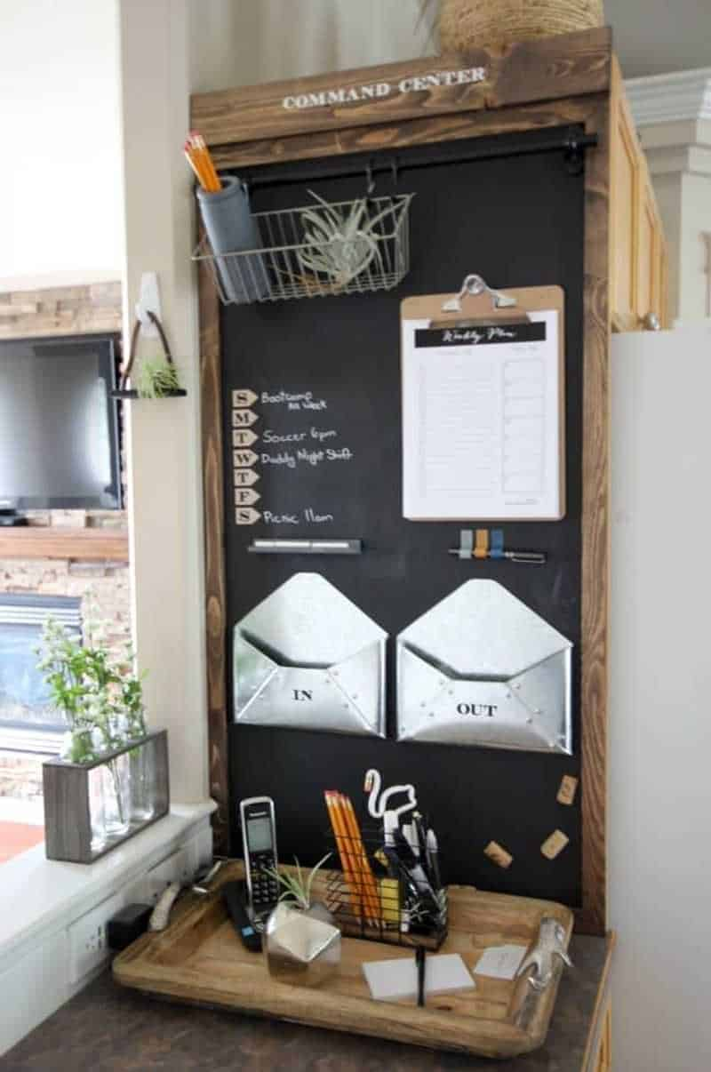 Chalkboard vertical command center