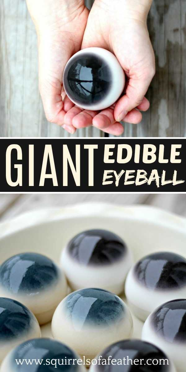 Giant edible eyeballs on a platter