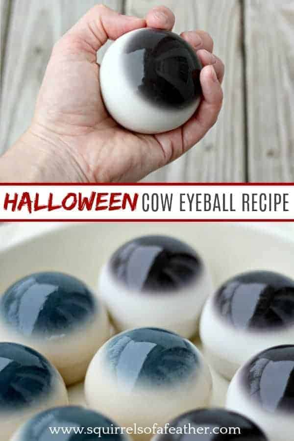 Giant edible eyeballs on a plate
