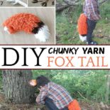A DIY fox tail made from yarn