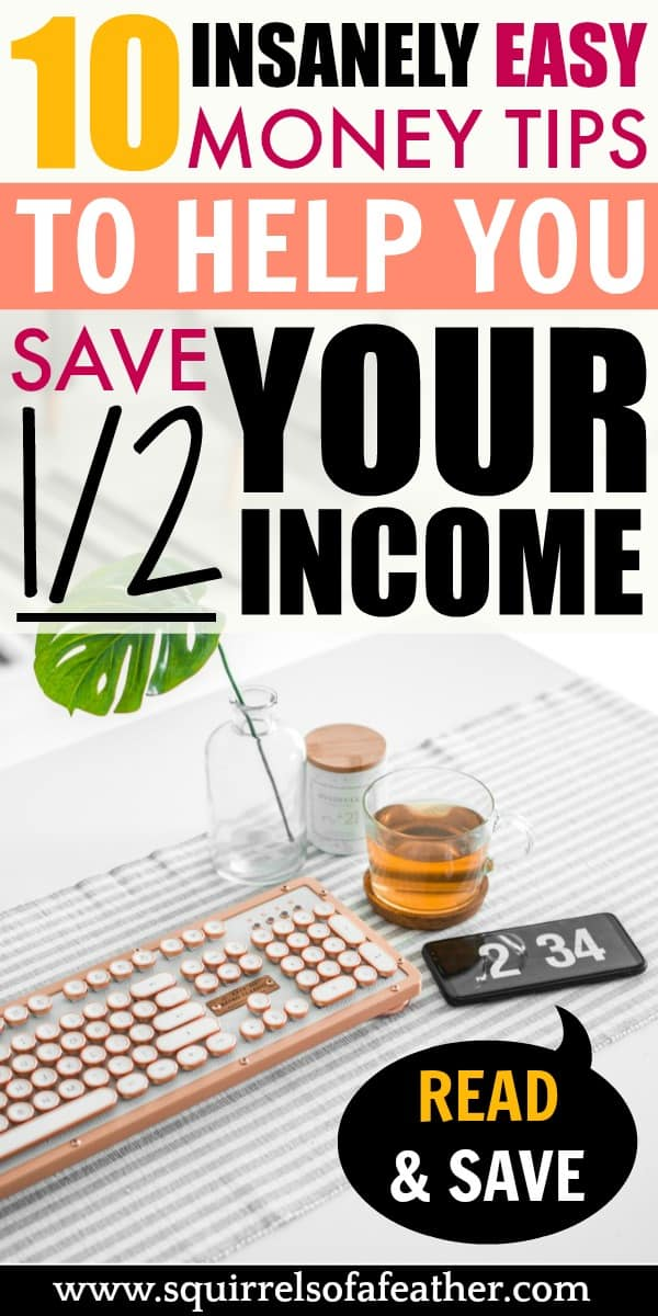 A description of ways to save half your income