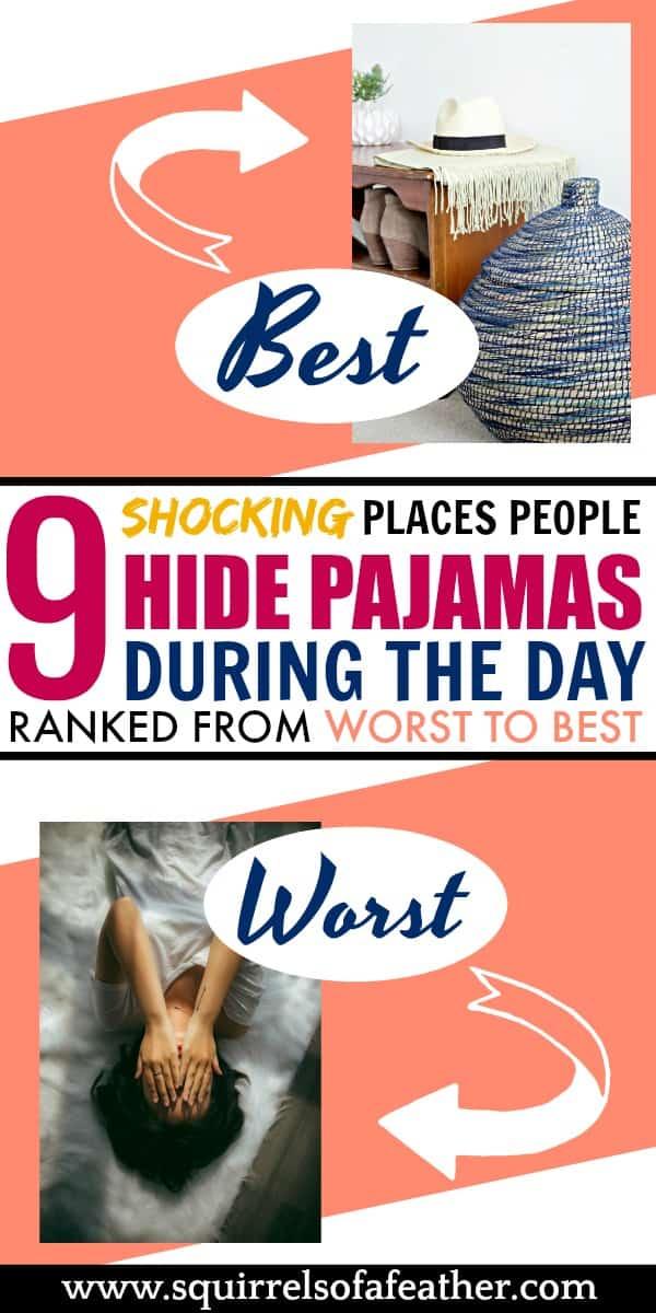 Infographic with pajama storage ideas