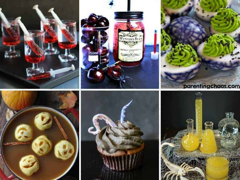Halloween drinks and foods for party
