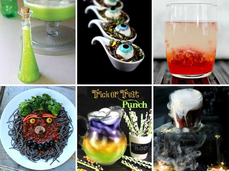 Several creepy Halloween recipes