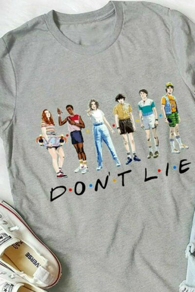 A shirt that says friends don't lie