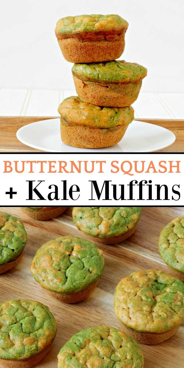 Butternut squash muffins on a table and plate