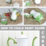 A step-by-step chalk paint silver tutorial