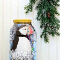 DIY Dollar Store Christmas Gift: Giant Ornament