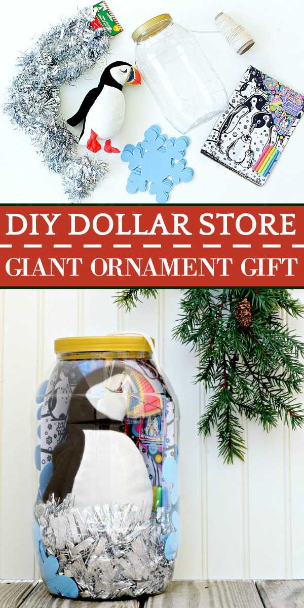 A cute DIY dollar store gift