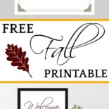 A free fall decor sign
