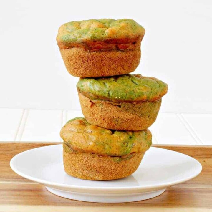 A stack of healthy muffins