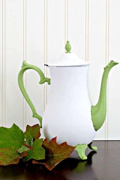 How to Chalk Paint Metal (Like This Upcycled Silver Teapot)