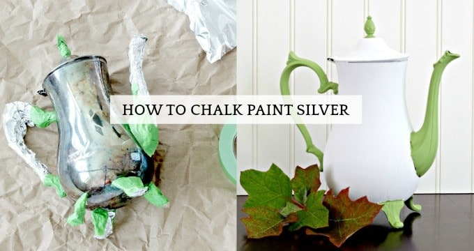 Chalk paint silver before and after