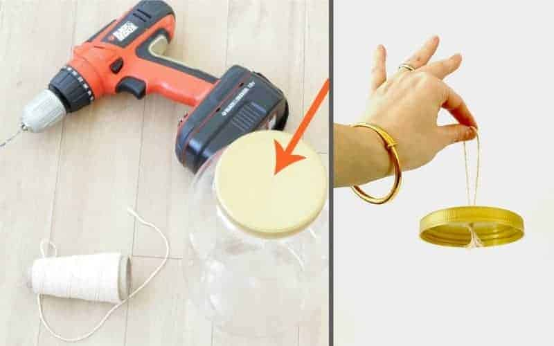 Using drill to make Christmas ornament