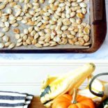 Step-by-step images for making pumpkin seeds