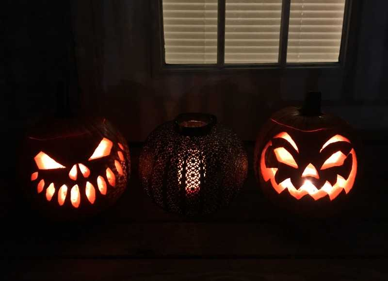 Spooky pumpkins from our pumpkin seed recipe