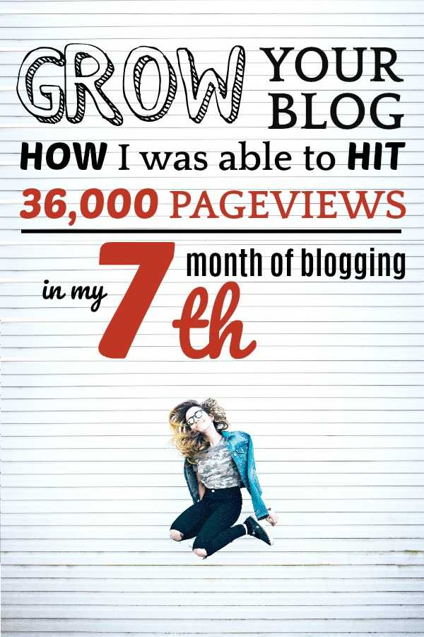 A female blogger jumping for joy after starting a blog