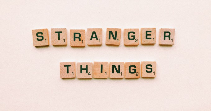 Stranger Things gift Scrabble pieces