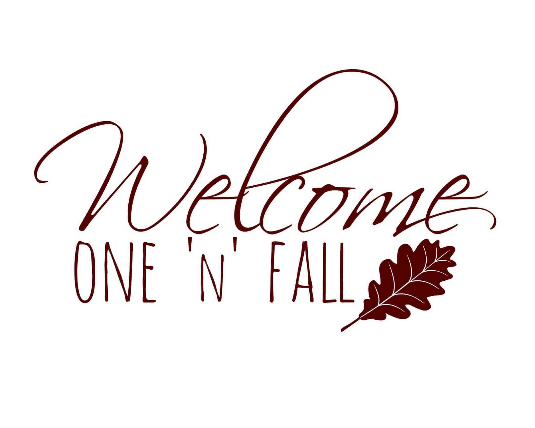 "Printable ""Welcome Fall"" sign 8x10"