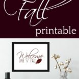 Fall printable for decoration