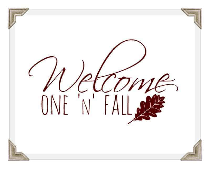 "A ""Welcome Fall"" free printable sign"
