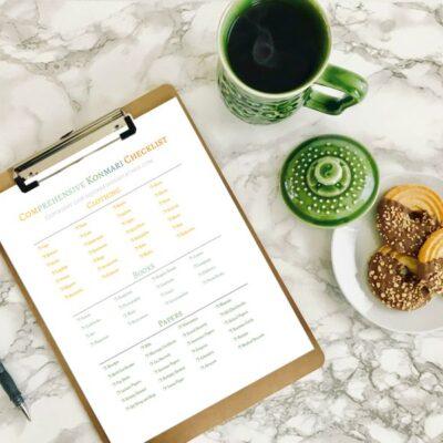 Ultimate FREE Comprehensive KonMari Checklist [5 Page Printable]