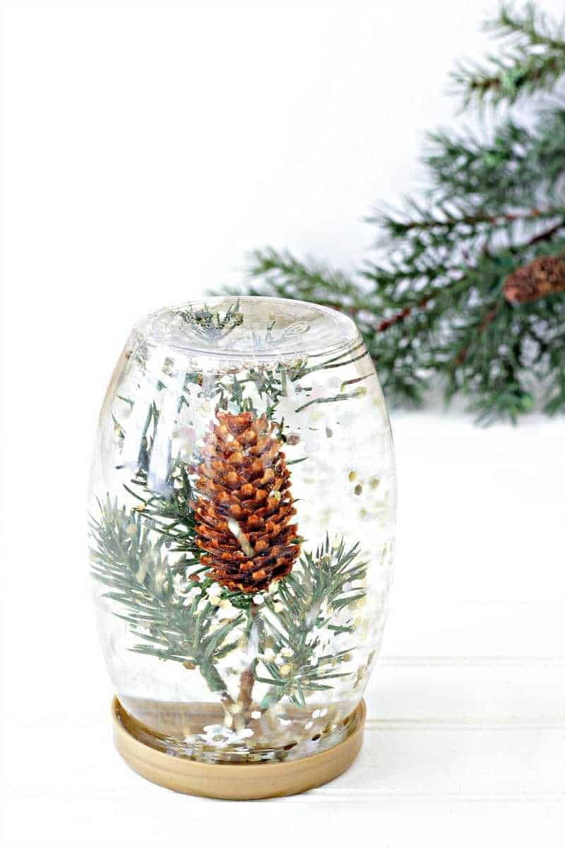 A pine cone calming bottle