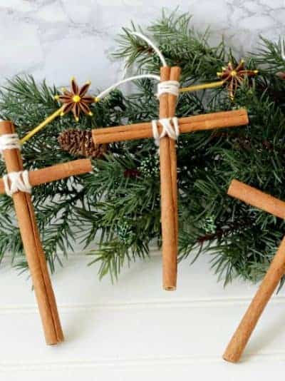 Cinnamon Stick Ornaments for Christmas Tree