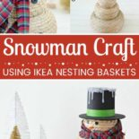 A close up of an easy snowman craft