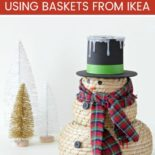 A snowman craft with black hat