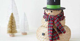 Adorable Snowman Craft Using IKEA Baskets
