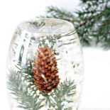 Winter glitter calming bottle