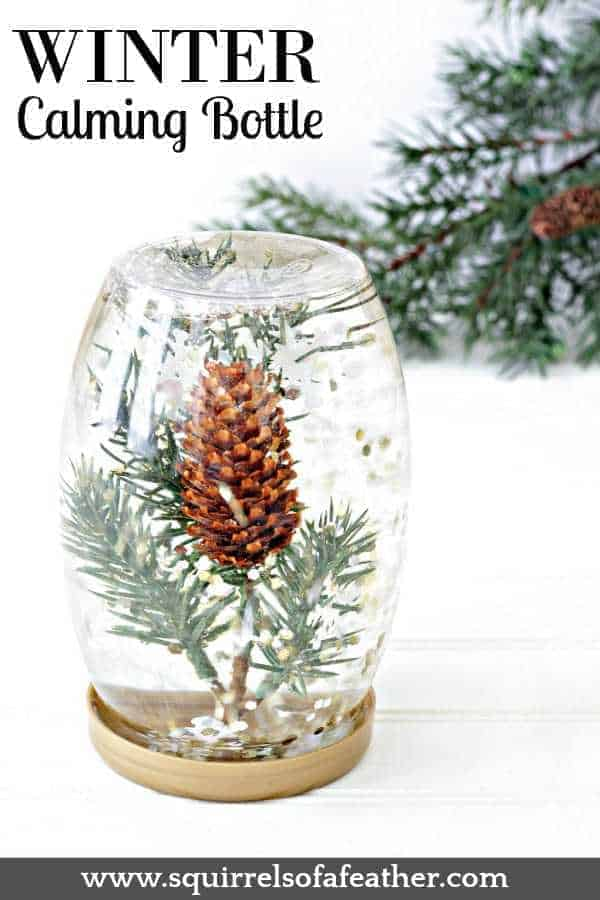 A beautiful calming bottle for winter