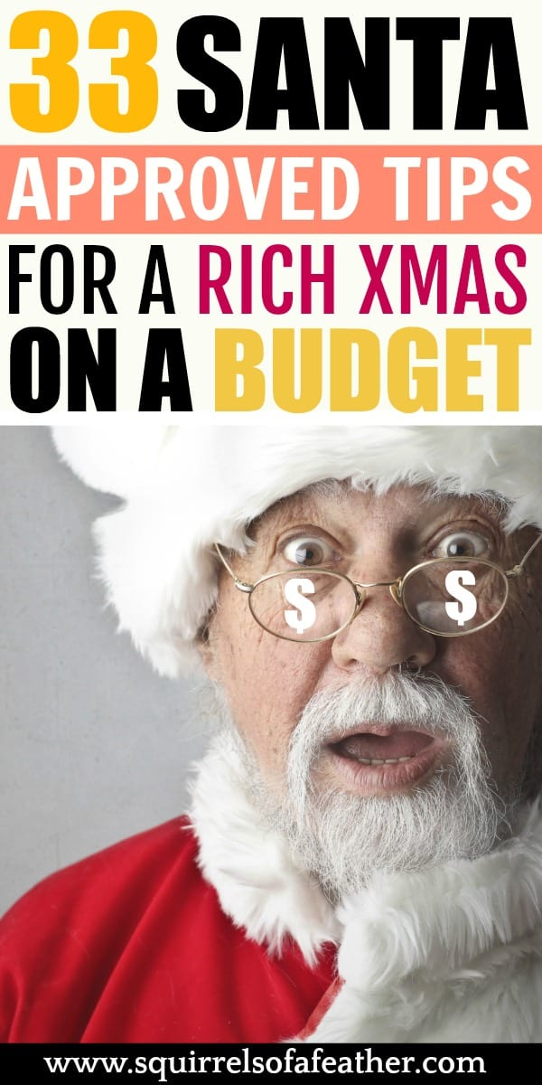 Santa excited about Christmas budget
