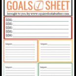A free printable goal sheet for New Year's