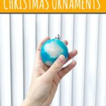 Hand holding blue Christmas jelly ornament
