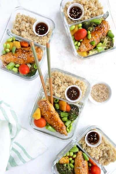 Chicken teriyaki meal prep work lunch