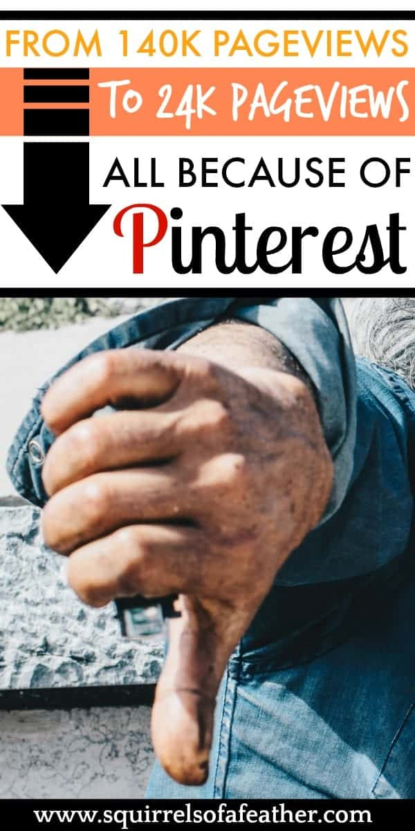 Man giving thumbs down to Pinterest