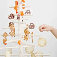 How to Decorate a Wooden Dowel Christmas Tree with Edible Ornaments